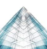 Abstract de bouwconcept het 3d teruggeven Royalty-vrije Illustratie