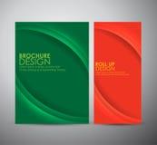 Abstract de brochure van de bedrijfs krommelijn vectorontwerpmalplaatje of broodje omhoog Stock Foto