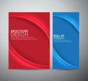 Abstract de brochure van de bedrijfs krommelijn vectorontwerpmalplaatje of broodje omhoog Stock Foto's