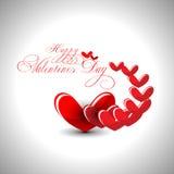 Abstract de daghart van Valentijnskaarten op grijze achtergrond F Stock Fotografie