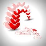 Abstracte de dagillustratie van Valentijnskaarten. Royalty-vrije Stock Foto