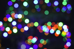 Abstract de-focused colorful lights bokeh Stock Photo