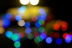 Abstract de-focused colorful lights bokeh royalty free stock photography