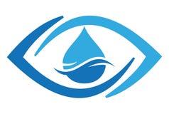 Abstract de golfembleem van het oog dsign Water royalty-vrije illustratie