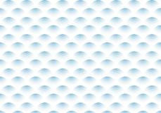 Abstract de golfpatroon van de halve cirkel blauw gradiënt op witte achtergrond vector illustratie