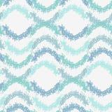 Abstract de golvenpatroon van het pastelkleur blauw gekrabbel Royalty-vrije Stock Afbeelding