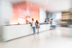 Abstract de halbinnenland van het onduidelijk beeldhotel voor achtergrond Stock Afbeeldingen