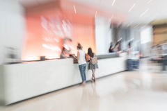 Abstract de halbinnenland van het onduidelijk beeldhotel voor achtergrond Royalty-vrije Stock Foto's