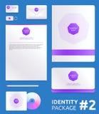 Abstract de identiteits vectormalplaatje van het Bedrijf Stock Foto