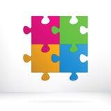 Abstract de illustratieconcept van het raadsel. + EPS8 Stock Afbeelding