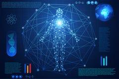 Abstract de interfacehologram van het technologie ui futuristisch concept hud Stock Illustratie