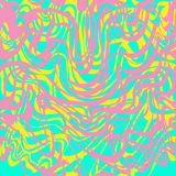 Abstract de kauwgom vectorpatroon van het roze, blauwe, gele en lavendelmoiré Abstra royalty-vrije illustratie