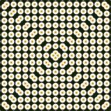 Abstract de lentepatroon met madeliefjes, driehoek camomiles Kan voor patroonstof, achtergrond, malplaatje voor groetkaart worden Royalty-vrije Stock Afbeeldingen