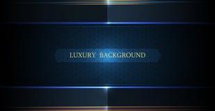 Abstract de lijnontwerp van de luxe veelhoekig en zilveren, gouden donkerblauw driehoek voor de dekking, behang stock illustratie