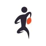 Abstract de mensensilhouet van het sportspel Stock Afbeelding