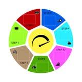 Abstract de optiesmalplaatje van het infographicsaantal Stock Foto's