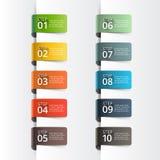 Abstract de optiesmalplaatje van het infographicsaantal Stock Fotografie