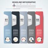 Abstract de optiesmalplaatje van het infographicsaantal Vectorillustrati Royalty-vrije Stock Afbeeldingen