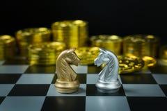 Abstract de raads dicht omhooggaand beeld van het Schaakspel Royalty-vrije Stock Afbeeldingen