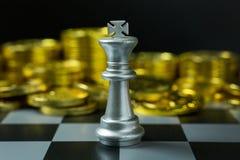 Abstract de raads dicht omhooggaand beeld van het Schaakspel Stock Foto