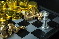 Abstract de raads dicht omhooggaand beeld van het Schaakspel Royalty-vrije Stock Fotografie