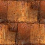 Abstract de roest naadloos patroon van het ijzer vierkant blad Royalty-vrije Stock Fotografie