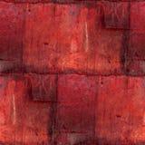 Abstract de roest naadloos patroon van het ijzer vierkant blad Stock Afbeeldingen