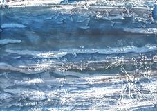 Abstract de waterverfpatroon van Gray Blue royalty-vrije illustratie