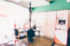 Abstract de winkelbinnenland van de onduidelijk beeldkoffie Stock Fotografie
