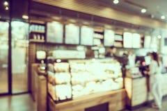 Abstract de winkelbinnenland van de onduidelijk beeldkoffie Stock Foto's