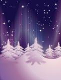 Abstract de winterlandschap Stock Afbeeldingen
