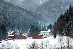 Abstract de winterlandschap Stock Fotografie