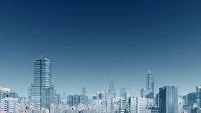 Abstract de wolkenkrabberspanorama van de stadshorizon 4K vector illustratie
