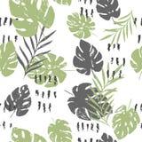 Abstract de zomer helder bloemen naadloos patroon met in hand getrokken texturen royalty-vrije illustratie