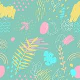 Abstract de zomer naadloos patroon Hand Getrokken Achtergrond royalty-vrije illustratie