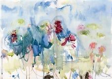 Abstract de zomerlandschap Stock Afbeelding
