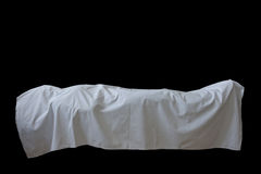 Abstract of dead body. Isolated in black Royalty Free Stock Photography
