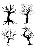 Abstract dead trees. A set of dead trees on a white background Royalty Free Stock Photos