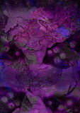 Abstract deccorative violett background with lilac fairy Royalty Free Stock Photo