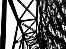 Free Abstract Deconstruction Architecture Black And White Manipulated Photo Of Bridge Metal Construction. Geometry Art Photo Stock Images - 167373194