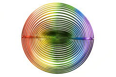 Abstract decor. Abstract rainbow decor isolated on white royalty free stock images