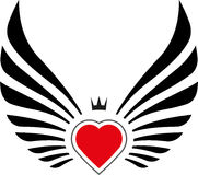 Abstract decor with wings and heart Stock Image