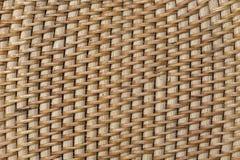 Abstract decoratief houten geweven mandewerk De achtergrond van de mandtextuur Stock Afbeeldingen