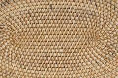Abstract decoratief houten geweven mandewerk De achtergrond van de mandtextuur Royalty-vrije Stock Foto