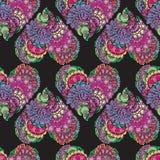 Abstract decoratief naadloos patroon met hand getrokken bloemenelem Royalty-vrije Stock Foto