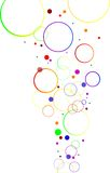 Abstract decoration with color circles Royalty Free Stock Images