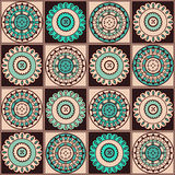 Abstract decoration elements on brown background Stock Photos