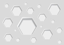 Abstract decoration with hexagon shapes Royalty Free Stock Photography