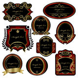 Abstract decoration labels set Royalty Free Stock Image
