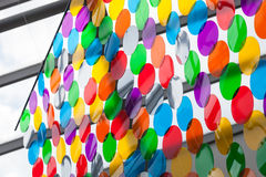 Abstract decoration made of plastic circles Stock Photography